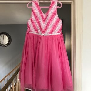 Kids Pink and White Dress